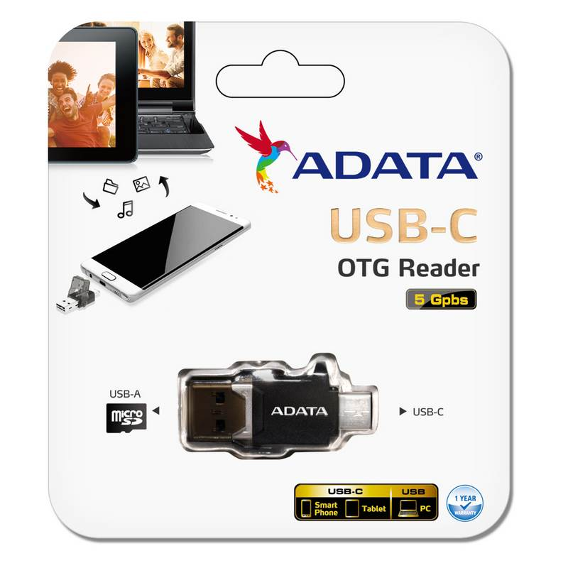 ADATA USB-C OTG Card Reader