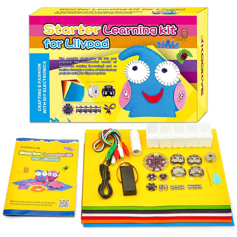 KOOKYE Lilypad Sewable Starter Learning Kit for Arduino
