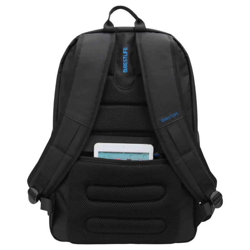 "Bestlife 17"" Laptop Backpack - Black/Blue"