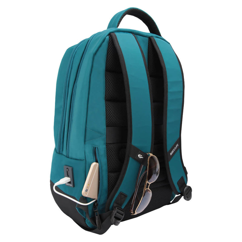 "Bestlife 15.6"" Notebook Backpack with Type-C Connector - Blue"