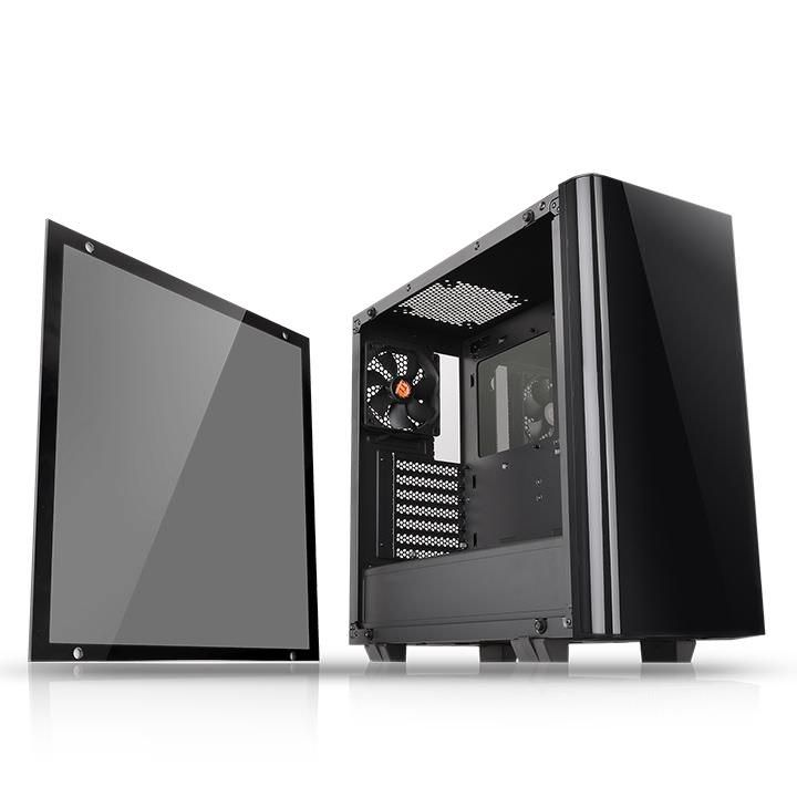 Thermaltake View 21 Tempered Glass Edition Midi Tower Black