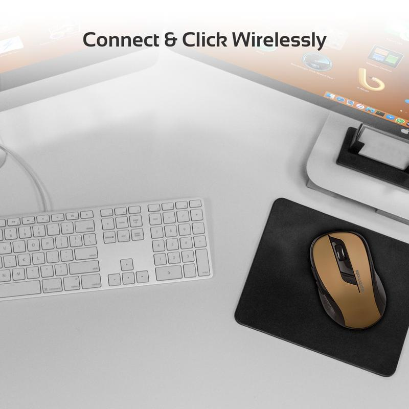 Promate Clix-7 Wireless Ergonomic Optical Mouse