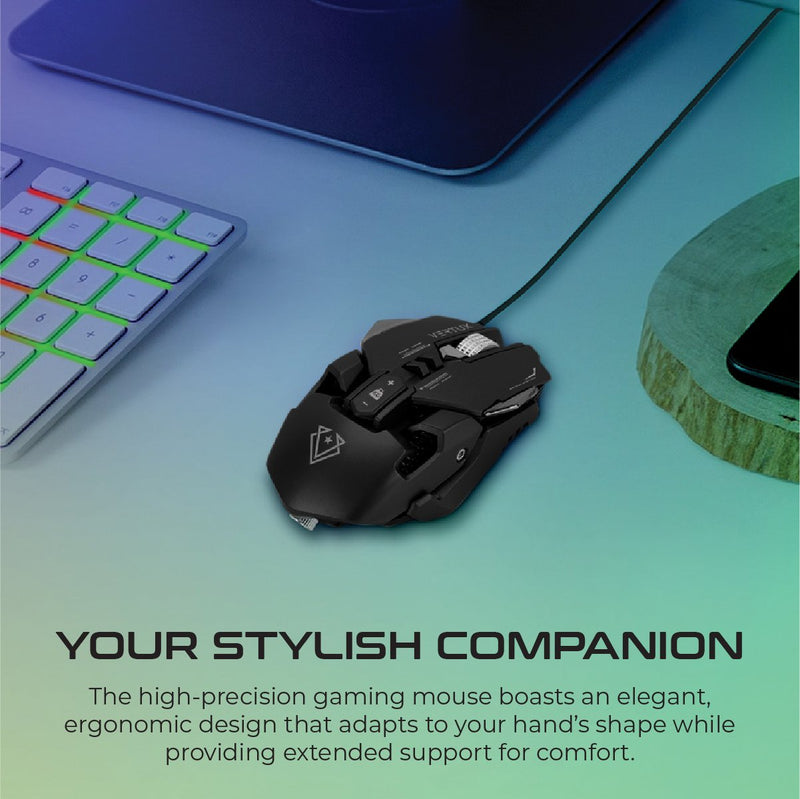 VERTUX Indium Gaming Optimized Precision Wired Mouse