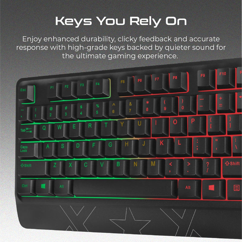 VERTUX Orion Wired Gaming Keyboard and Mouse Combo