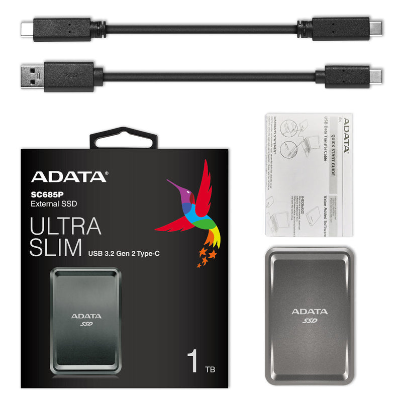 ADATA SC685P SSD External Solid State Drive - Metal