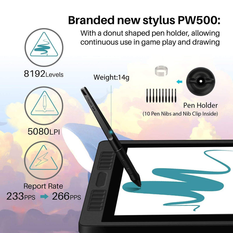 Huion Kamvas Pro 22 Drawing Display Tablet with Stand - 21.5""