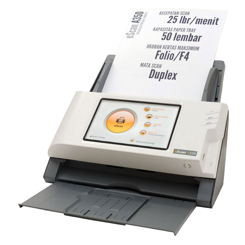 Plustek eScan A350 Automatic Document Feeder (ADF) Scanner