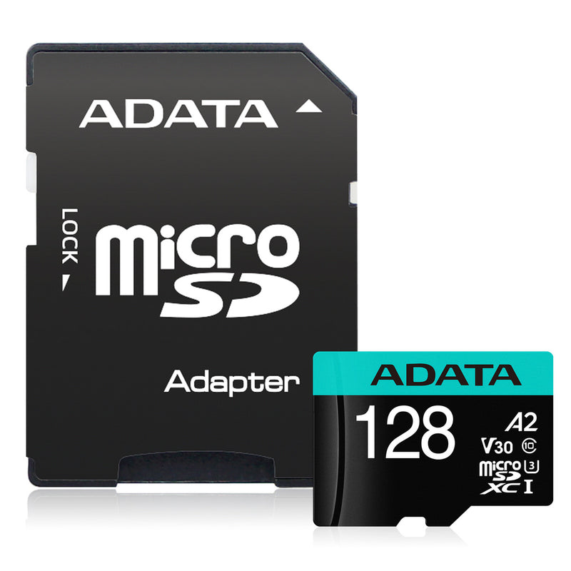 ADATA 128GB Flash Memory Card with Adapter - SD 6.0 - microSDXC/SDHC