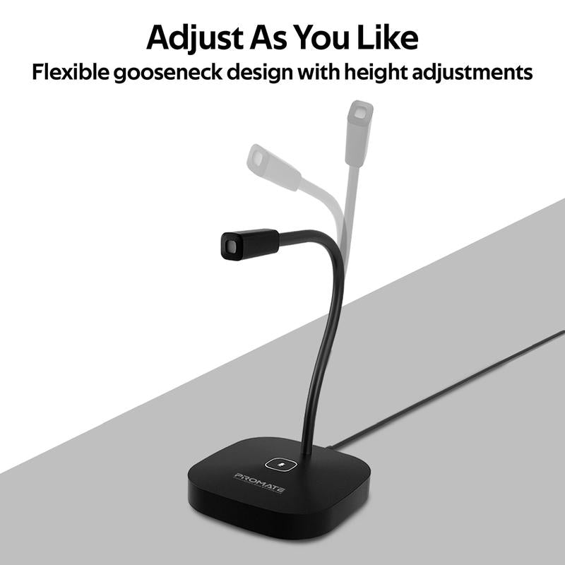 Promate High Definition Omni-Directional Microphone with Flexible Gooseneck ProMic-1