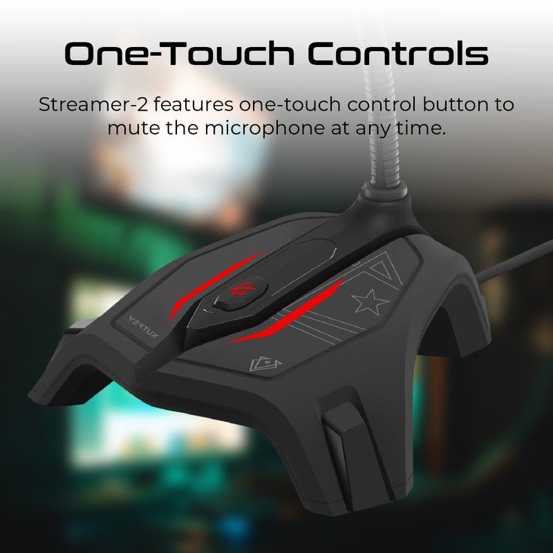 VERTUX Streamer-2 Omni-Directional Distortion Free Gaming Microphone