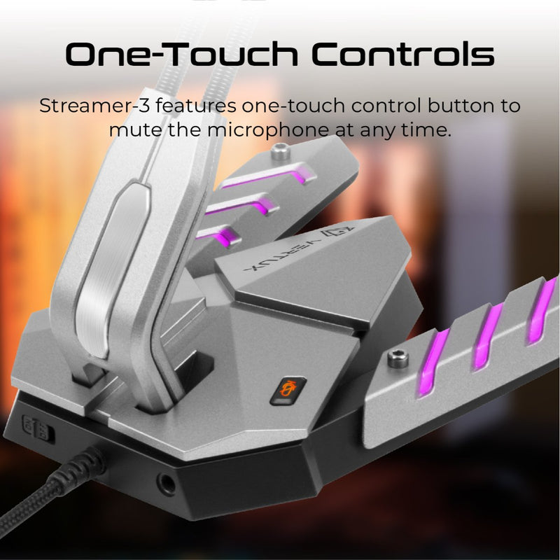 VERTUX Streamer-3 High Intensity Anti-Vibration Gaming Microphone