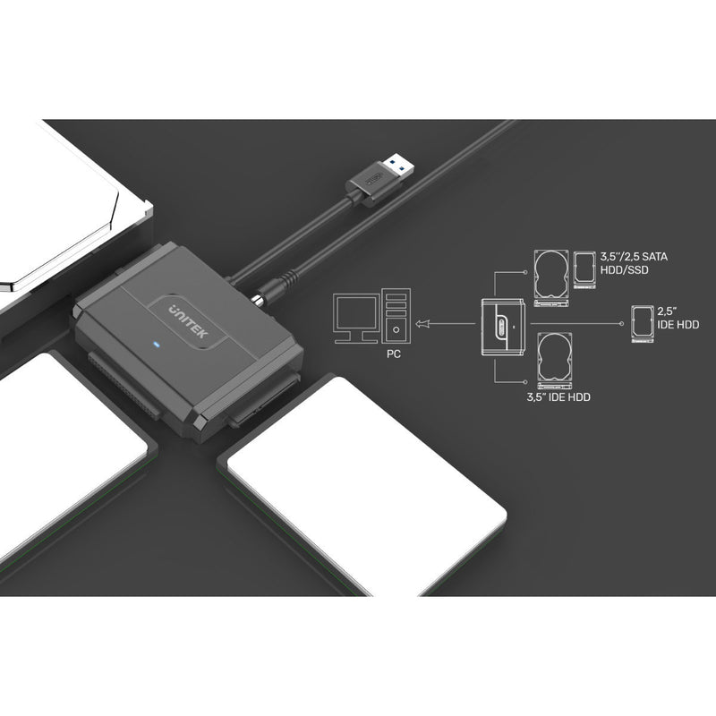 "Unitek USB3.0 USB-A to SATA/IDE Adapter 2.5""/3.5"""
