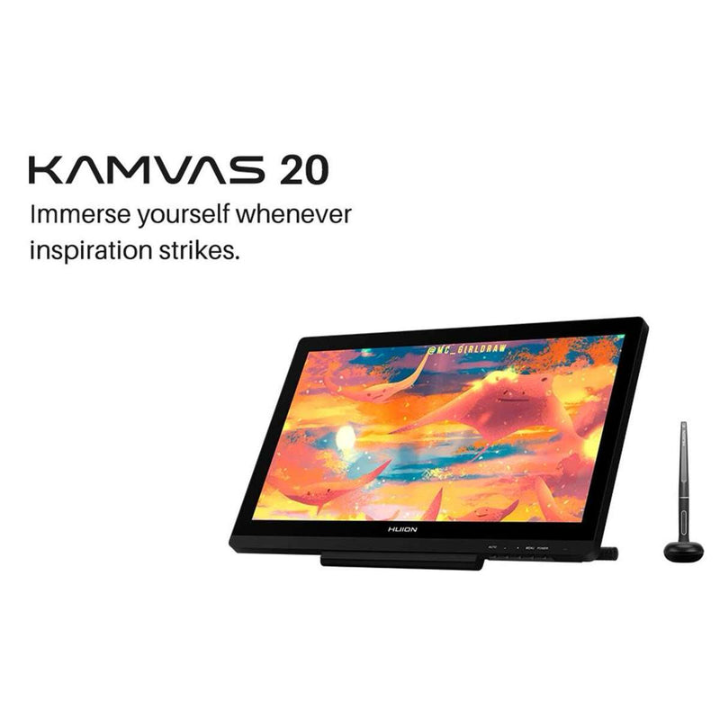 Huion Kamvas 20 Drawing Display Tablet with Stand - 19.5""