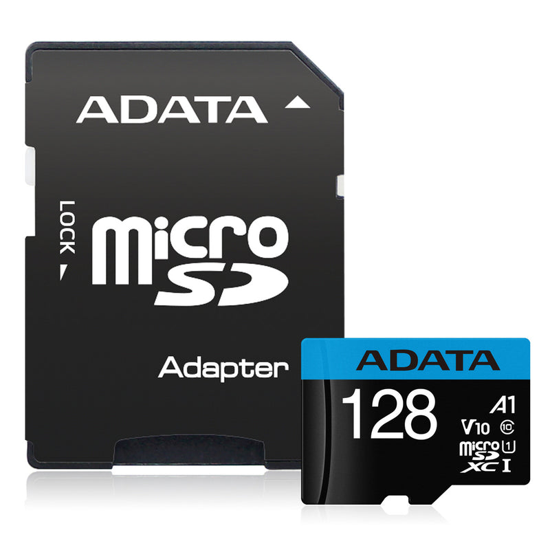 ADATA 128GB Flash Memory Card with Adapter - SD 5.1 - microSDXC/SDHC