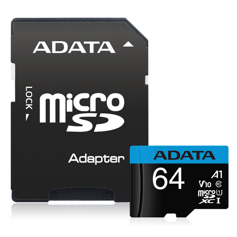 ADATA 64GB Flash Memory Card with Adapter - SD 5.1 - microSDXC/SDHC