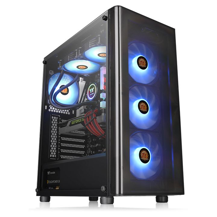 Thermaltake V200 Tempered Glass Edition (1x 12cm Fan)