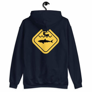 Caution Shark Hoodie - Hoodie - KitesurfingOfficial
