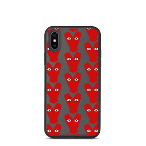 Red Kiteboard Heart pattern Biodegradable phone case - Case - KitesurfingOfficial