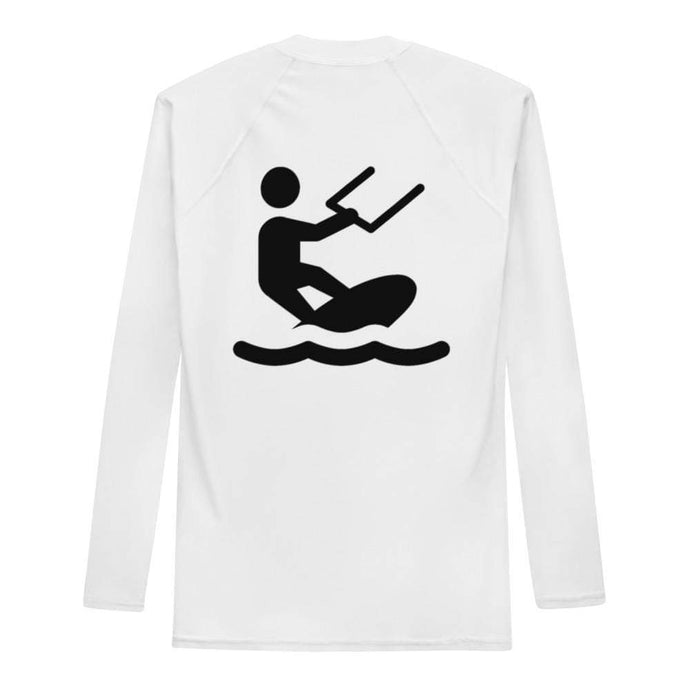 Kiteboarder Clipart - Rash Guard Men - KitesurfingOfficial
