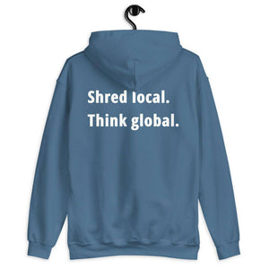 Shred local. Think global. - Hoodie - KitesurfingOfficial