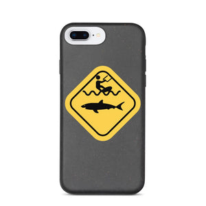 Caution Shark Biodegradable phone case - Case - KitesurfingOfficial