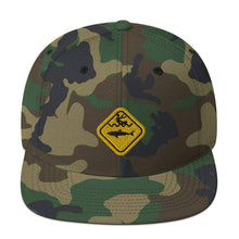 Load image into Gallery viewer, Caution Shark Snapback Hat - Cap - KitesurfingOfficial