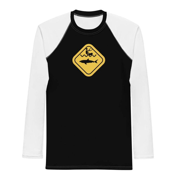 Caution Shark B&W - Rash Guard Men - KitesurfingOfficial