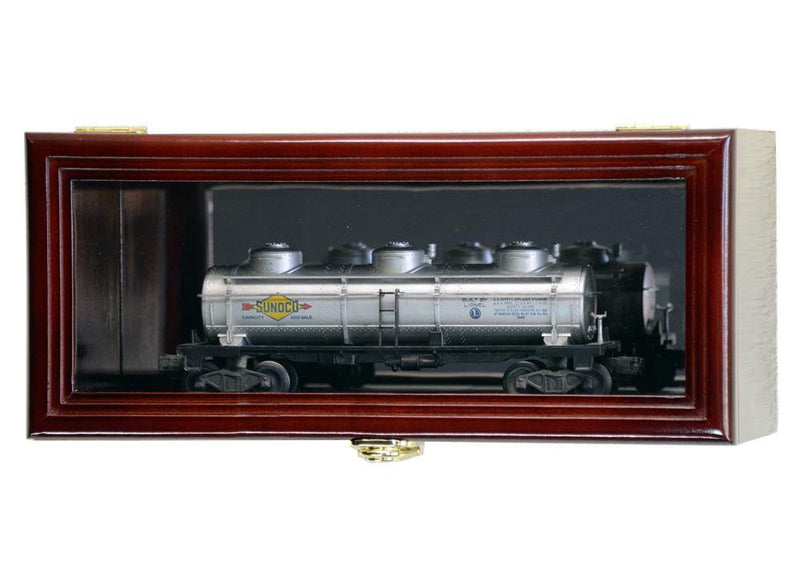 Single O Scale Train Engine Locomotive Cab Tanker Model Car Display Case Cabinet - sfDisplay.com