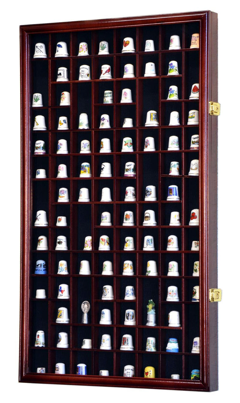 100 Opening Thimble / Small Miniature Display Case Cabinet - sfDisplay.com