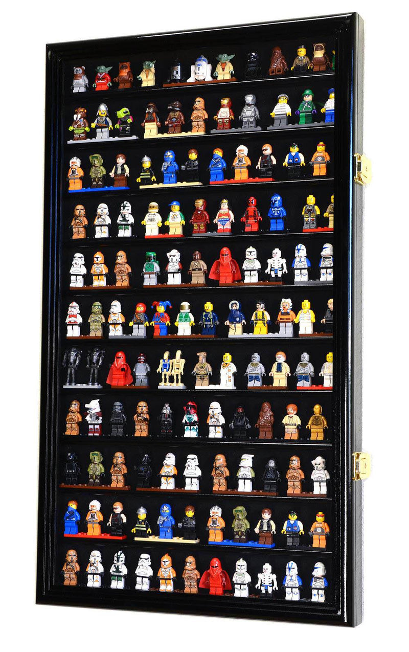 120 Lego Men Miniatures / Legos / Minifigures Display Case Cabinet - sfDisplay.com