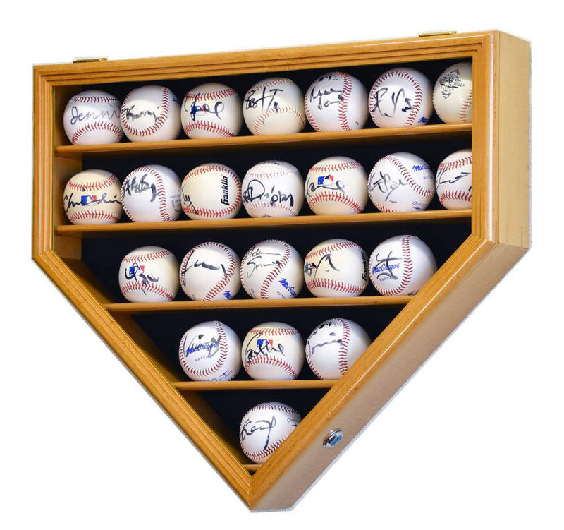 23 Baseball Ball Display Case Cabinet - Home Plate Shaped - sfDisplay.com