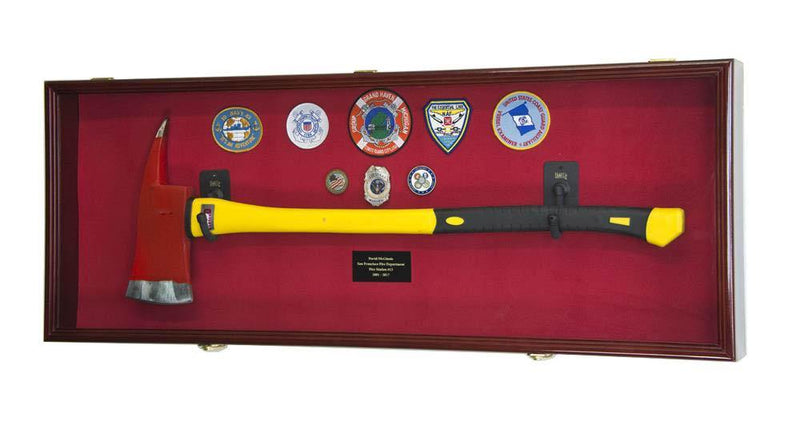 Firefighter Fireman Axe Display Case Cabinet - sfDisplay.com