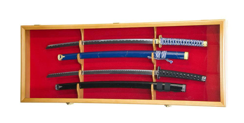 2 Swords and Scabbards Display Case Cabinet - sfDisplay.com