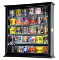 Mirror Backed and 4 Glass Shelves Shot Glass Display Case Cabinet