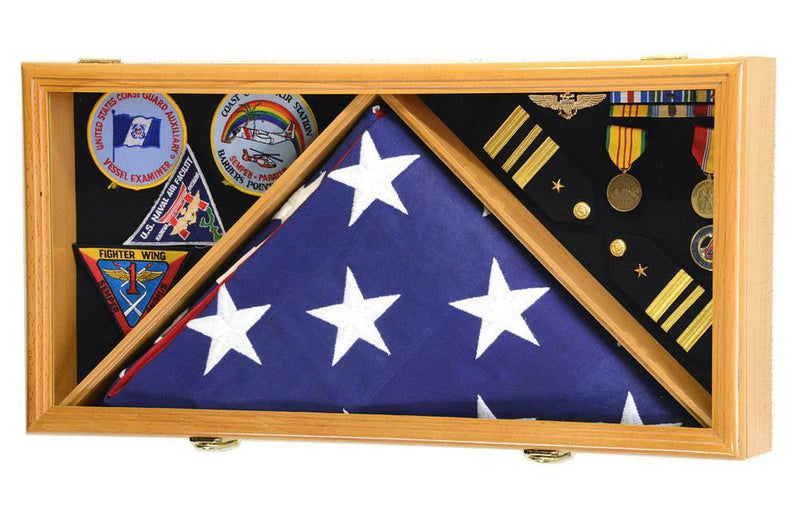 Flag and Medals Display Case Cabinet - sfDisplay.com