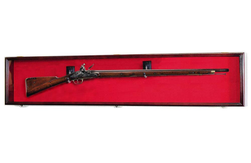 "XL Rifle / Musket Gun Display Case Cabinet - 64"" - sfDisplay.com"