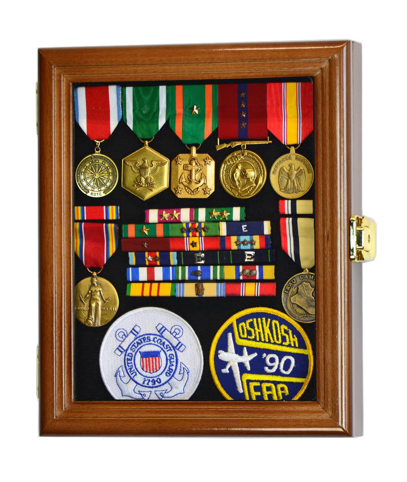 XS Military Medals, Pins, Patches, Insignia, Ribbons Display Case Cabinet