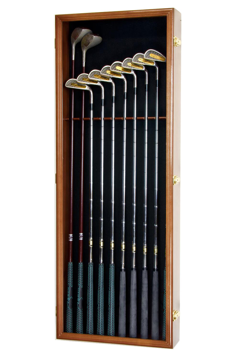 Large Golf Clubs Display Case Cabinet (Driver, Iron, Putter)