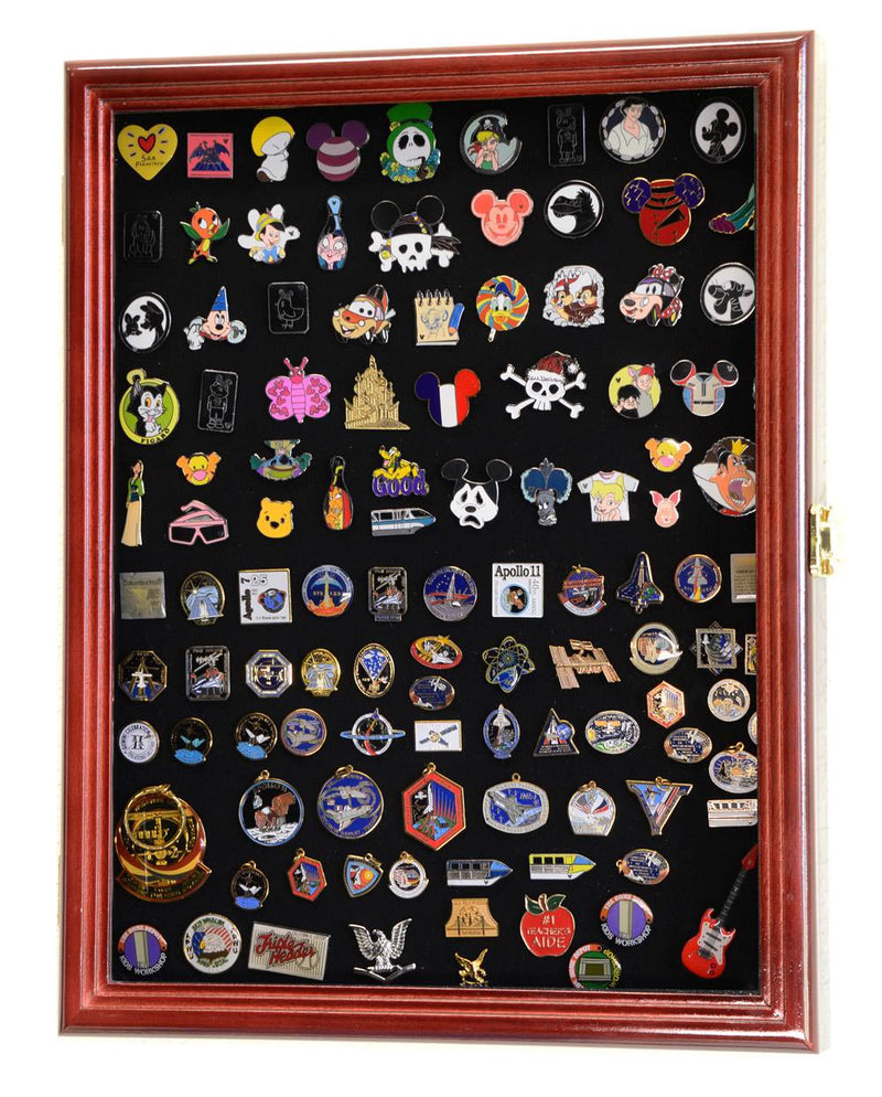 Pins, Ribbons, Medals, Buttons, Shells Showcase Display Case Cabinet