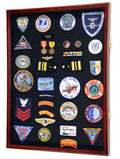 XL Military Medals, Pin, Patches, Badges, Ribbon, Insignia, Buttons, Flag Display Case Cabinet