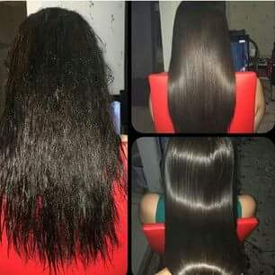 Powerful intensive hair mask with keratin