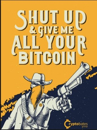 Run a Bitcoin Node and Crush a Bankster Cryptocurrency Decorative Canvas Paintings Vintage Wall Poster Stickers Home Decor Gift