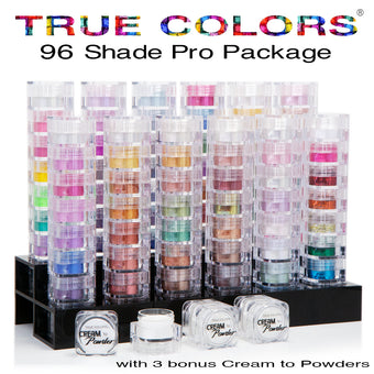 True Colors Mineral Makeup Silver Pro Package (96 shades)