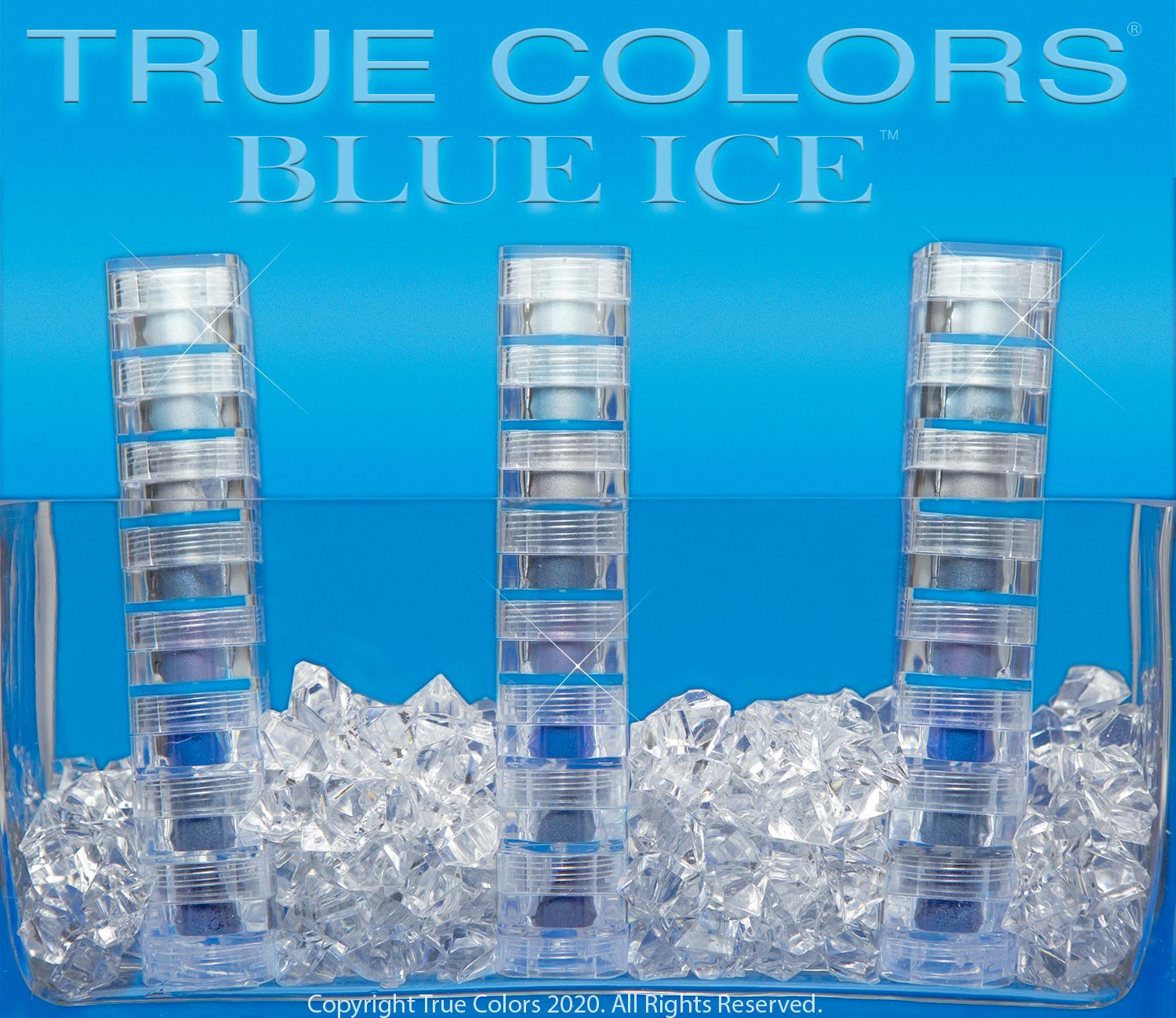True Colors Mineral Makeup Blue Ice 8 Stack