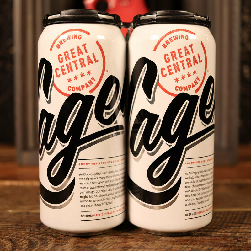 Great Central Lager 16 FL. OZ. 4PK Cans