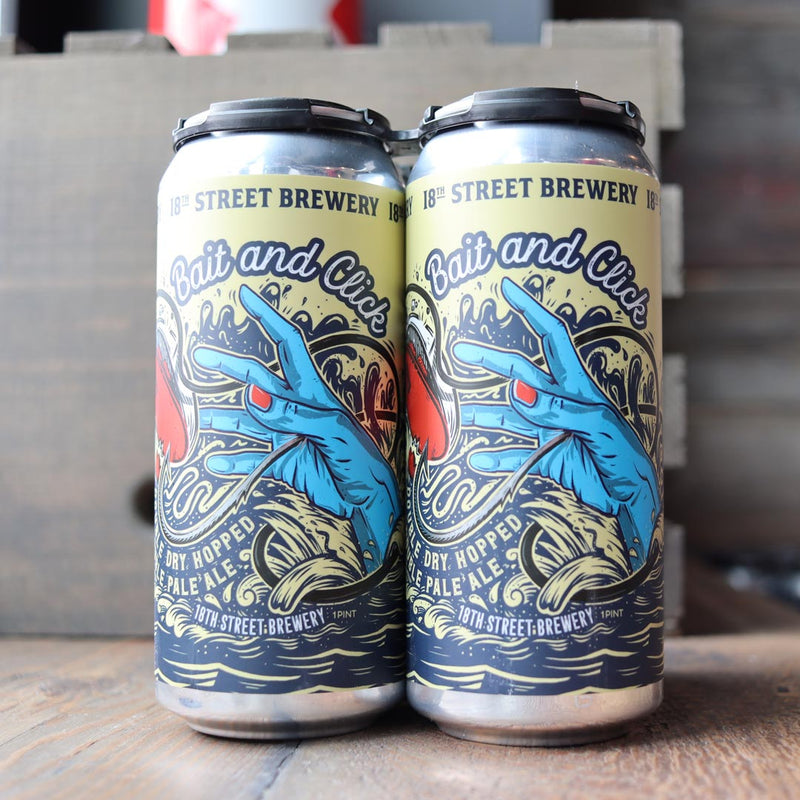 18th Street Bait and Click DDH Double Pale 16 FL. OZ. 4PK Cans