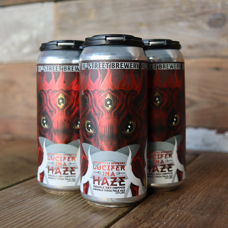 18th Street Lucifer In Haze IPA 16 FL. OZ. 4PK Cans