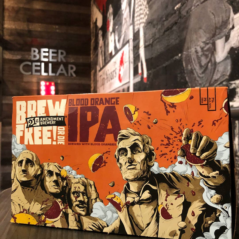 21st Amendment Brew Free Blood Orange IPA 12 FL. OZ. 6PK Cans