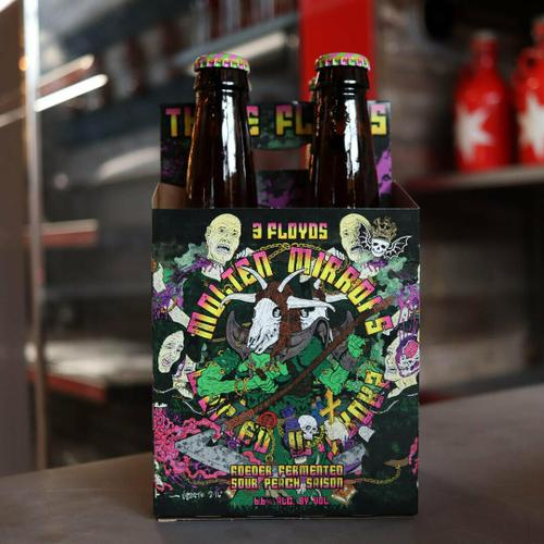 Three Floyds Molten Mirrors Foeder Sour Peach Saison 12 FL. OZ. 4PK