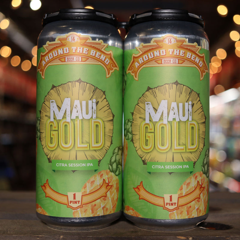 Around the Bend Maui Gold Citra Session IPA w/Pineapple 16 FL. OZ. 4PK Cans